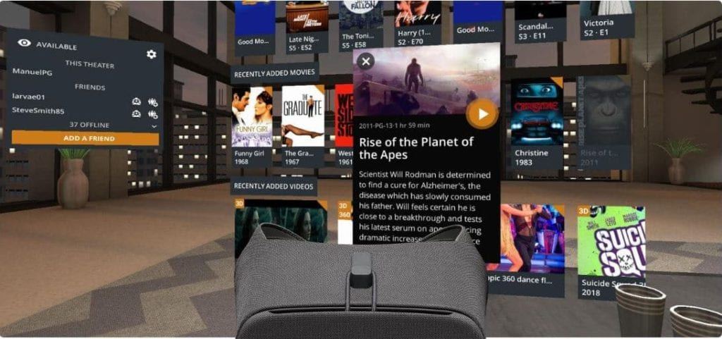 How to watch Plex with Gear VR